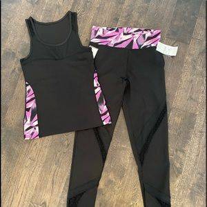 Activewear Leggings and Tank, NWT, Size M